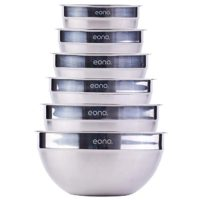 Eono by Amazon - Set of Six Stainless Steel雀巢混合碗(Matte and Mirror Finish)…